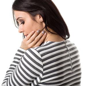Miękka bluzka w jasno - szare paski
