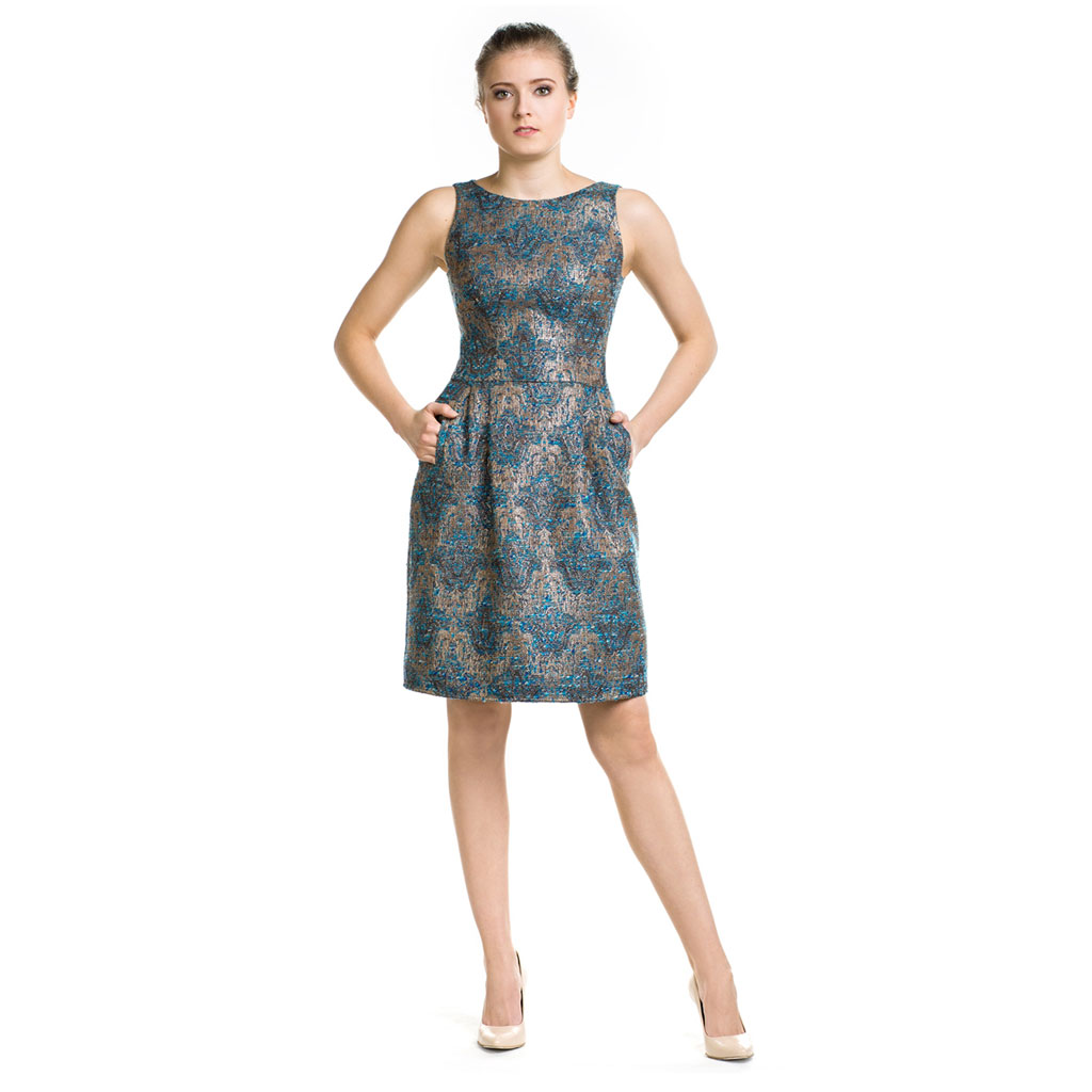 Żakardowa sukienka bombka