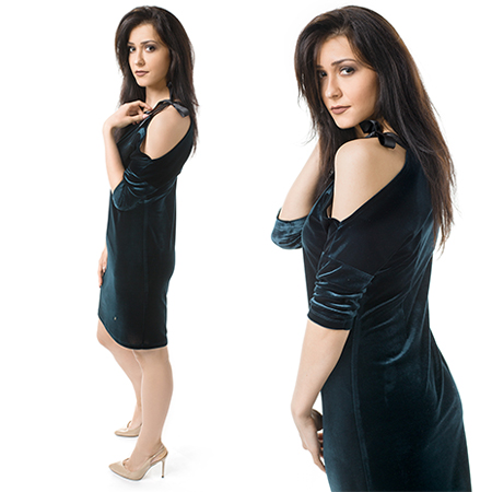 Szmaragdowa sukienka midi