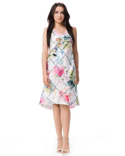 Rozkloszowana sukienka w kwiaty na wesele