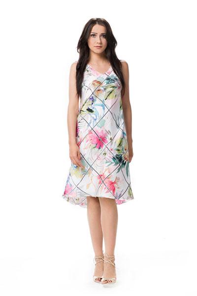 Asymetryczna sukienka w kwiaty