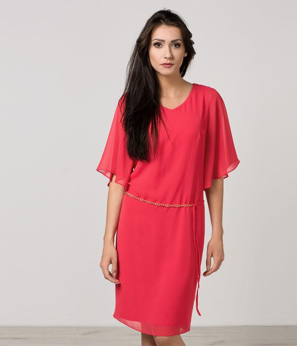 Luźna szyfonowa sukienka