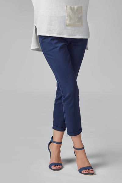 Eleganckie granatowe spodnie