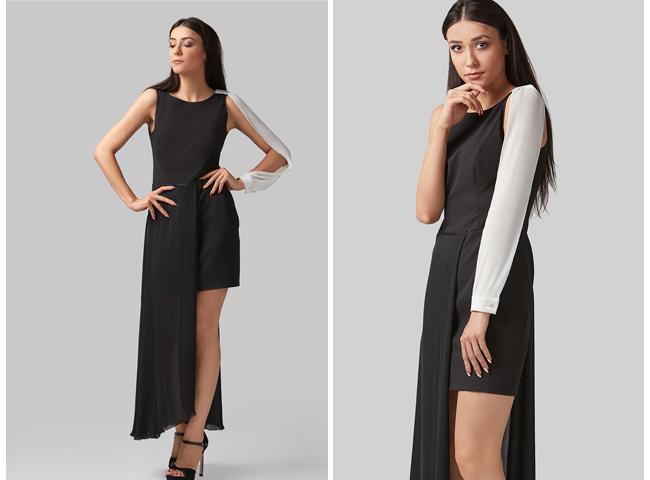 sukienka asymetryczna fiona - stylizacje na walentynki mogą zaskakiwać jak połączenie mini i maxi