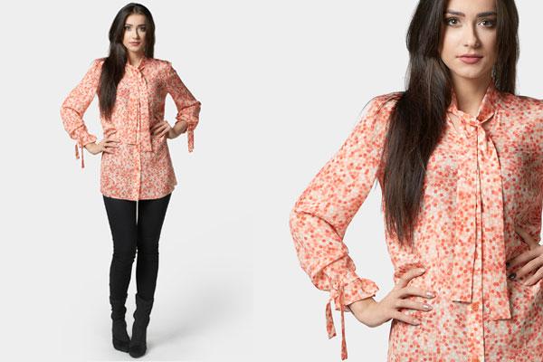 Elegancka bluzka w kropki z wiązaniami podkreśli wewnętrzny blask typ urody wiosna