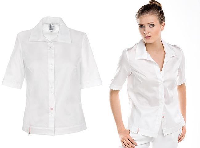 Klasyczne białe bluzki koszulowe nigdy nie zawiodą