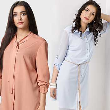 Bluzki koszulowe kolorowe