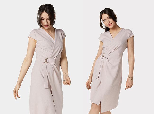 Kopertowe sukienki na wesele sprawdzają się w każdym sezonie - sukienka Cyprian doda nowoczesności do tego kroju