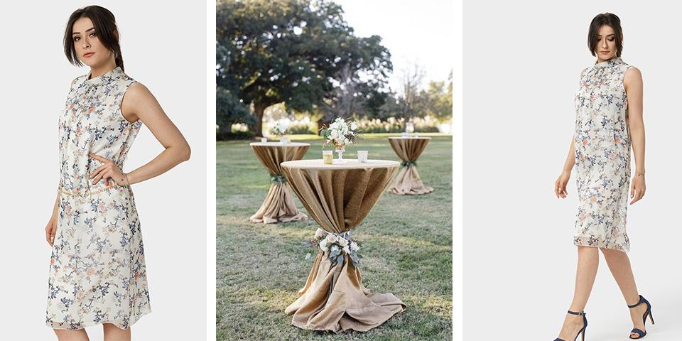 Plenerowe przyjęcie weselna w lekkiej sukience Piko