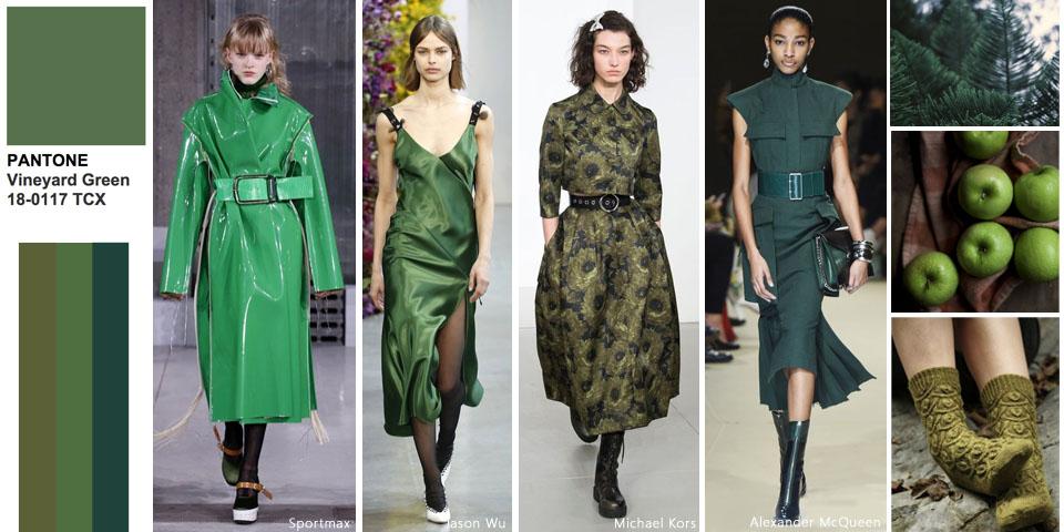 zielony - trendy kolorystyczne jesień zima 2018/19