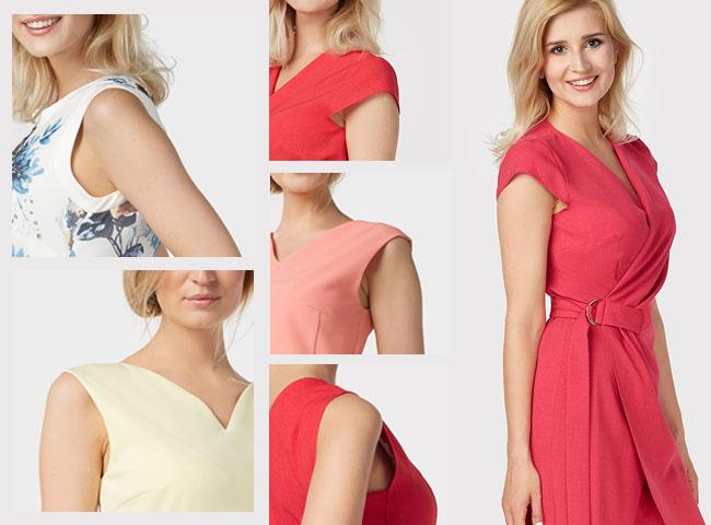 Przy większym biuście najlepiej sprawdzą się sukienki z szerokimi ramiączkami lub rękawkiem