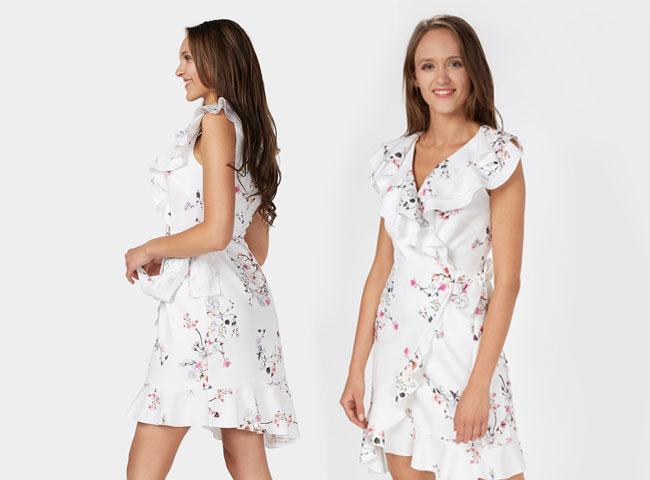 Sukienki letnie bez rękawów - dziewczęca midi na wielkie wyjście
