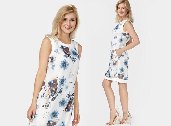 sukienki letnie codzienne - MAJA to sukienka dla romantyczek ceniących wygodę