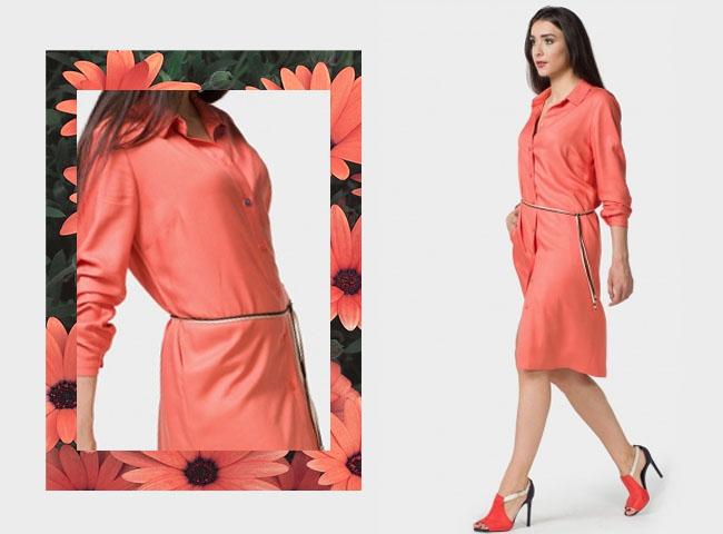 Co założyć żeby ukryć brzuch - sukienka HORTES w stylu oversize zamaskuje brzuch