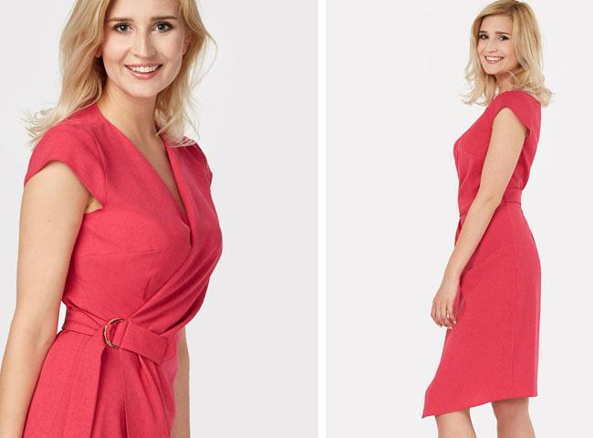 elegancko ale na luzie - sukienka CYPRIAN zyska inny charakter w zależności od dodatków