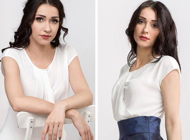 elegancko ale na luzie - biała bluzka SONATA
