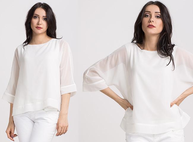 Zwiewna biała bluzka COMI