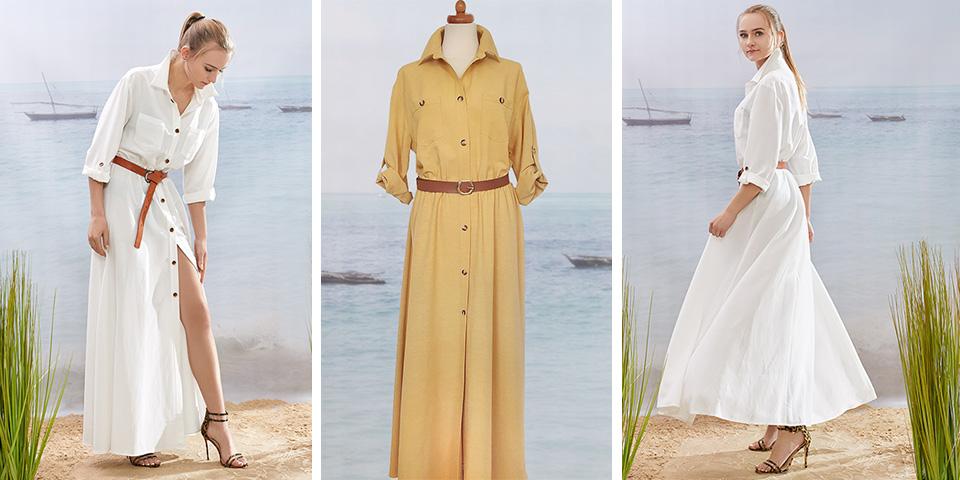 Krój maxi tuszującej sukienka do noszenia przez wysokie osoby Bee Collection Velma