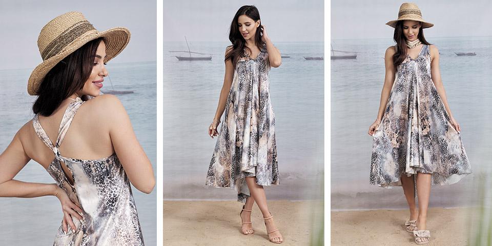 Rozkloszowana sukienka na wesele 2020 i trend sezonu MALTA