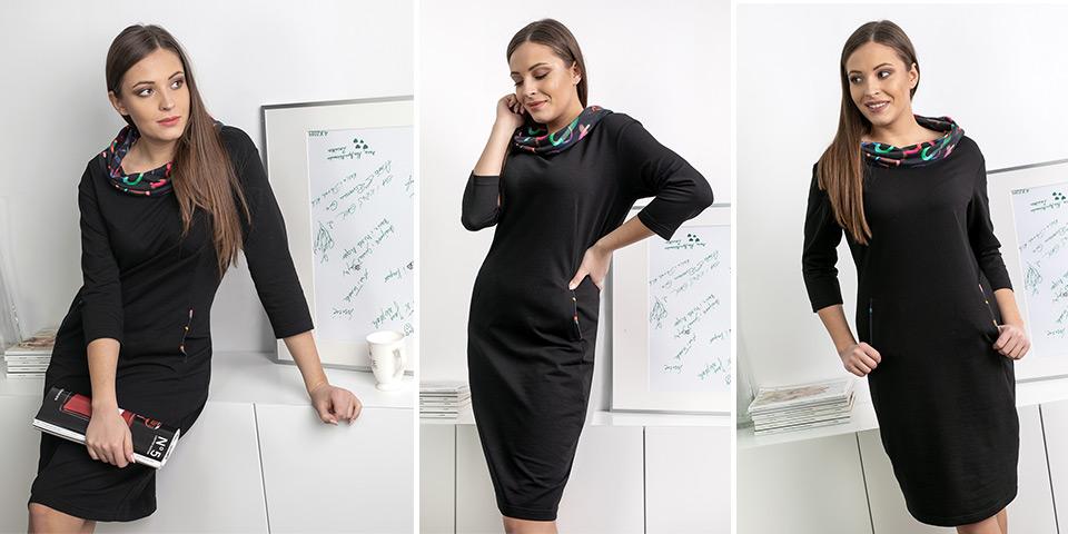 Klasyczna czarna sukienka Bee Collection